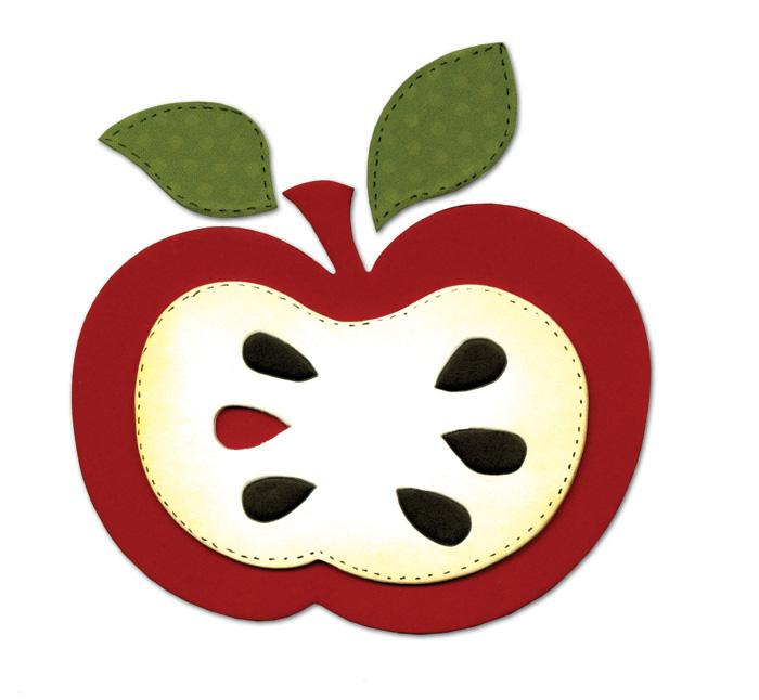 Sizzix Bigz Die Apple w/Leaves & Seeds