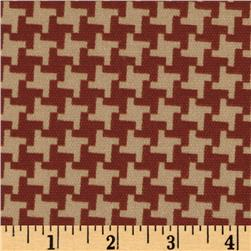 Indoor/Outdoor Modern Houndstooth Red
