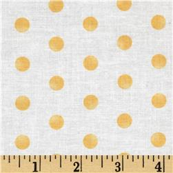 Moda Whitewashed Cottage Faded Dots Linen-Daffodil