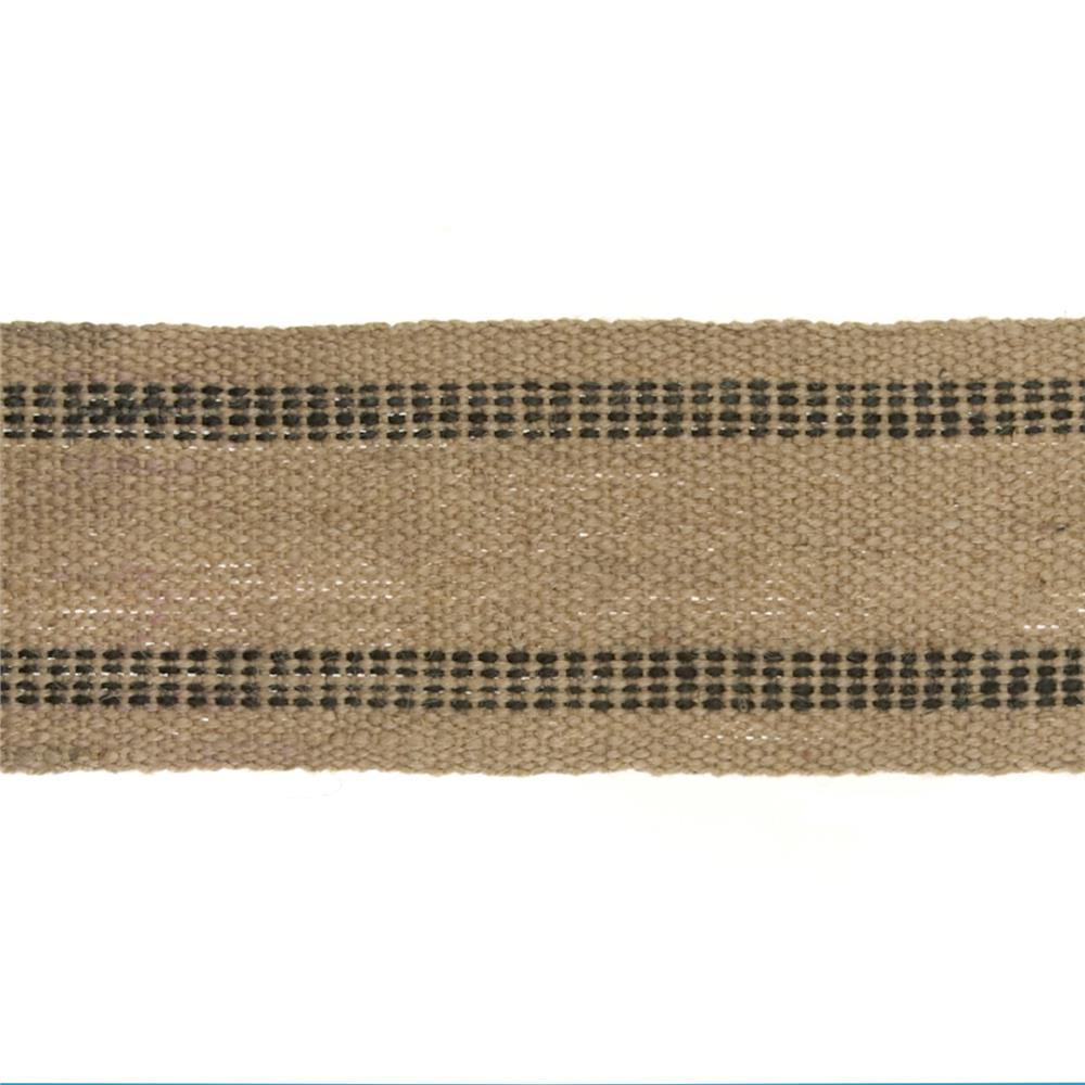 3-3/4'' Natural Jute Webbing Blue- By the Yard