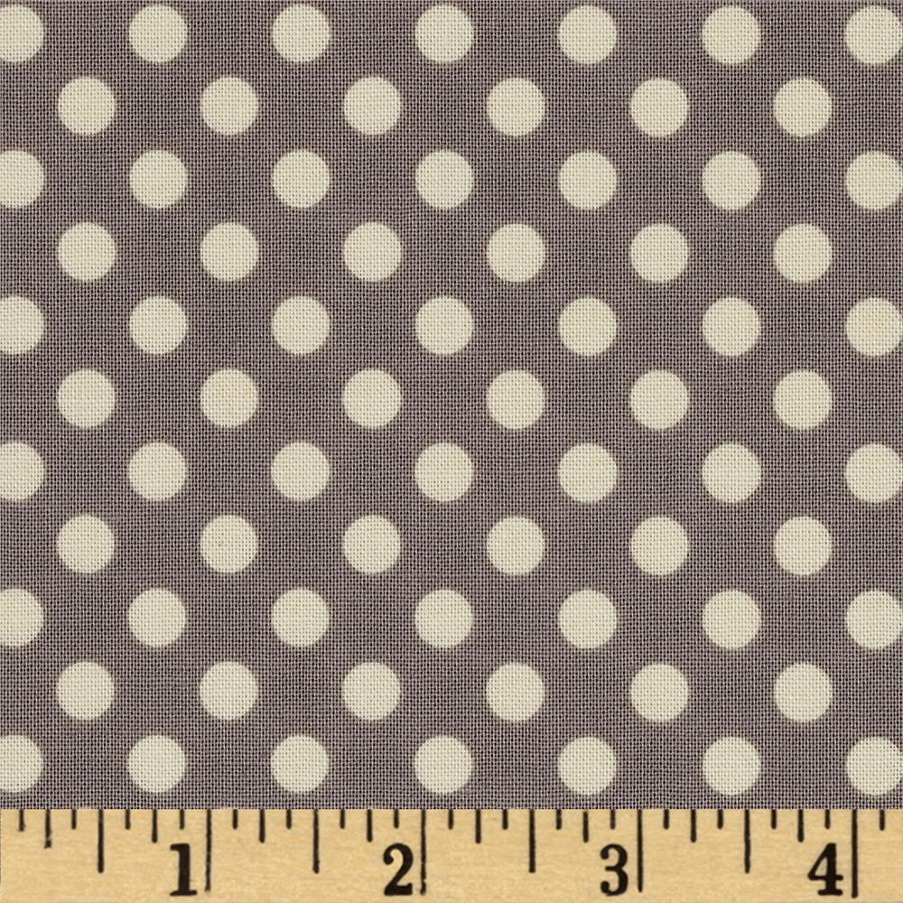 Riley Blake Le Creme Basics Small Dots Grey/Cream