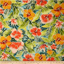 Tropical Floral Peach/Green