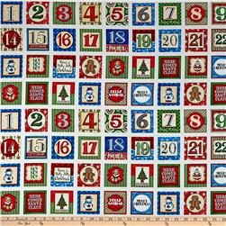 Santa Coming To Town Christmas Blocks 12 In. Multi
