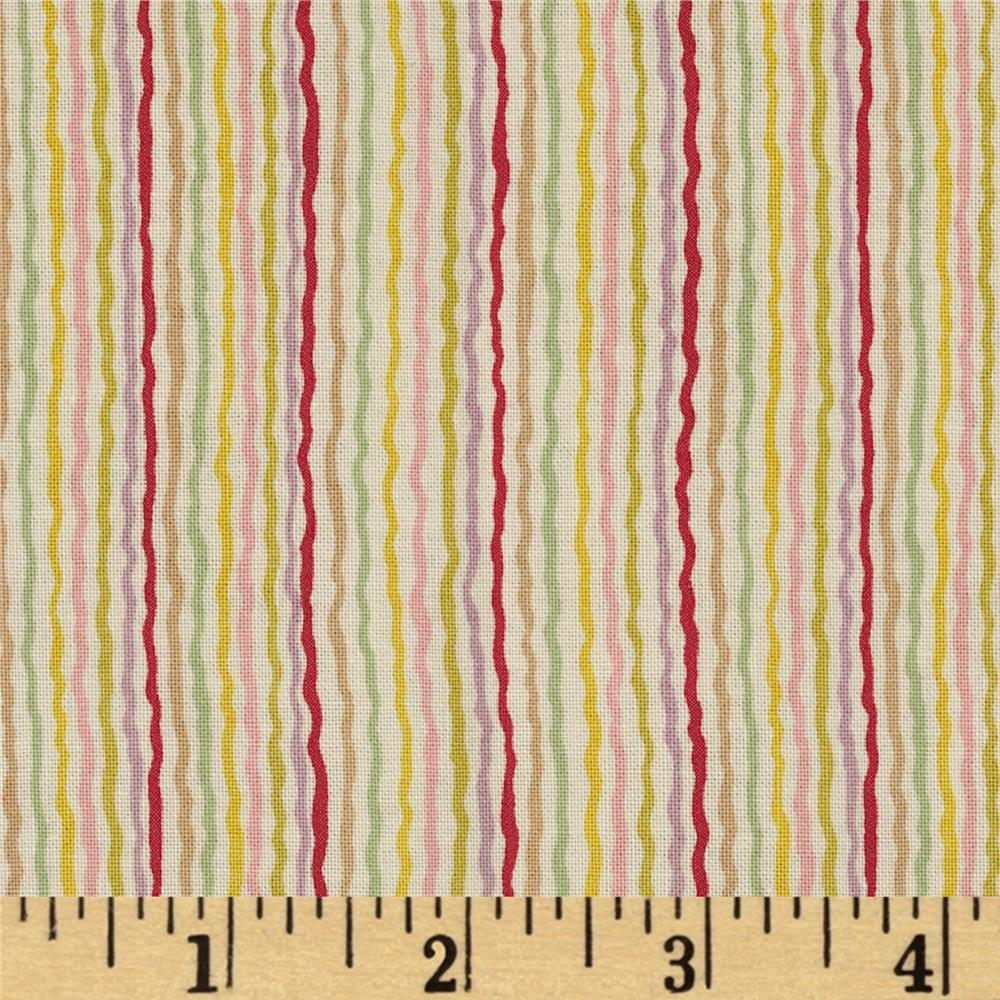 Ric-Rac Stripe Cream Pastel