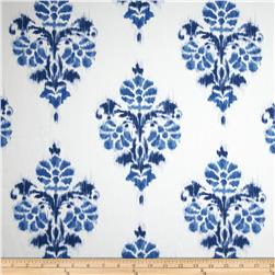 Duralee Manon Damask Twill Blue