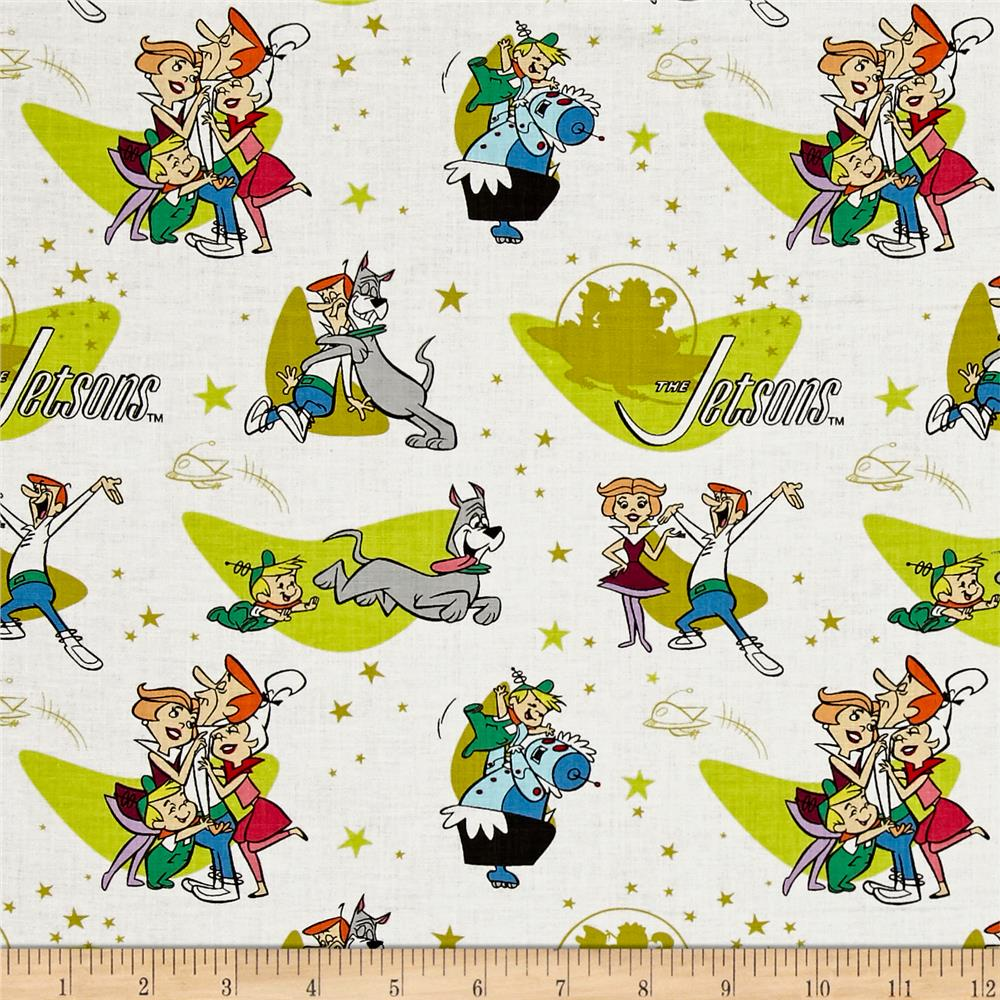 The Jetsons Family Love White Discount Designer Fabric