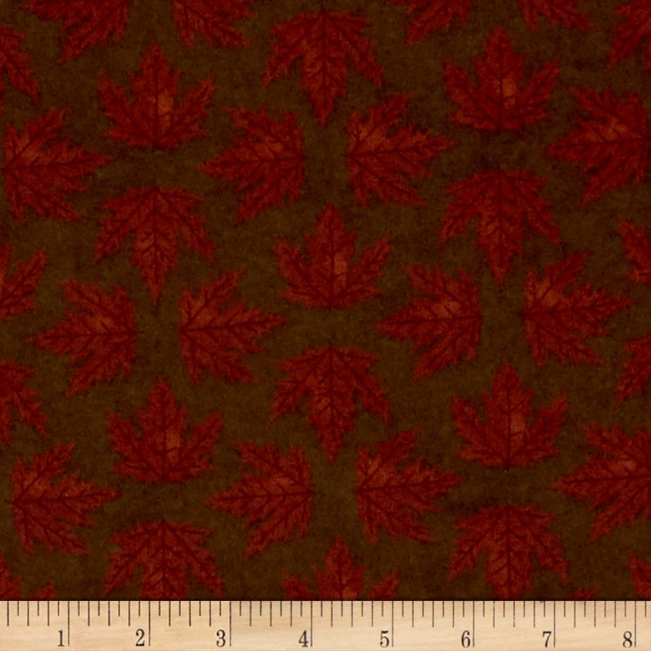 Moda Endangered Sanctuary Flannel Maple Leaves Walnut