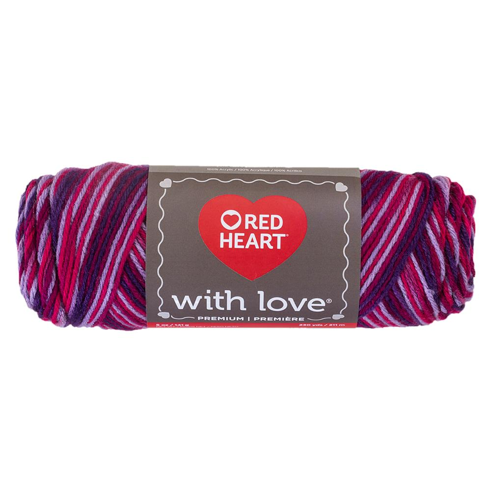 Red Heart With Love Variegated 1942 Plum Jam