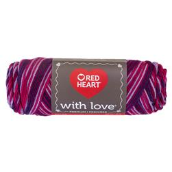 Red Heart Yarn With Love Variegated 1942 Plum Jam