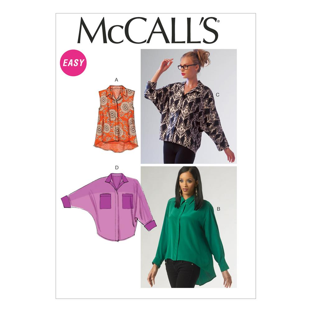 McCall's Misses' Blouses Pattern M6840 Size 0Y0