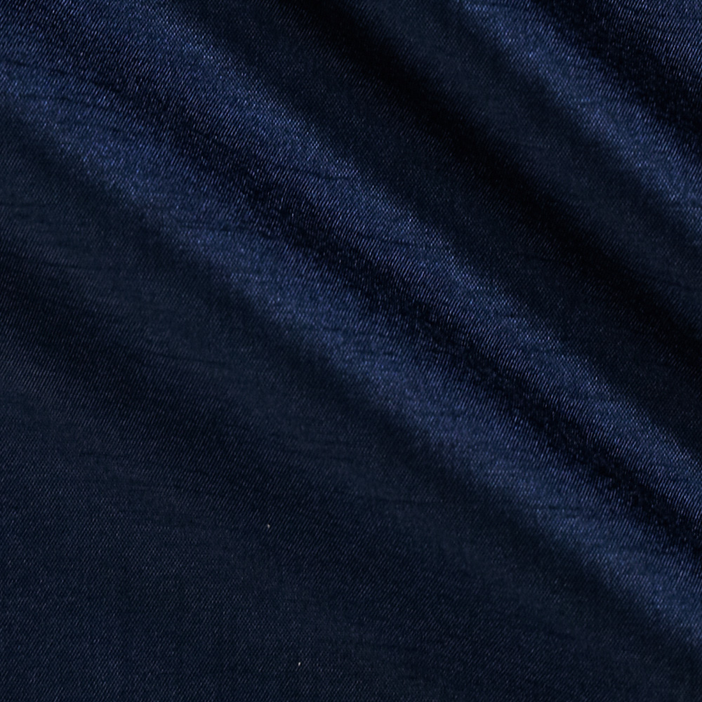 120'' Faux Dupioni Navy Fabric by Ramtex in USA