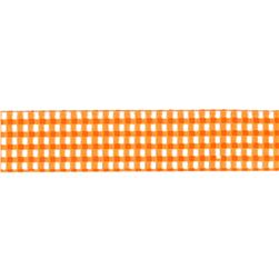 Riley Blake 5/8'' Grosgrain Ribbon Gingham Orange