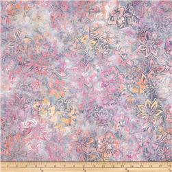 Robert Kaufman Batik Geo Flowers Rose