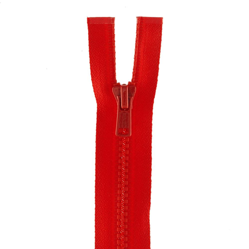 "Coats & Clark Medium Weight Molded Separating Zipper 18"" Atom Red"