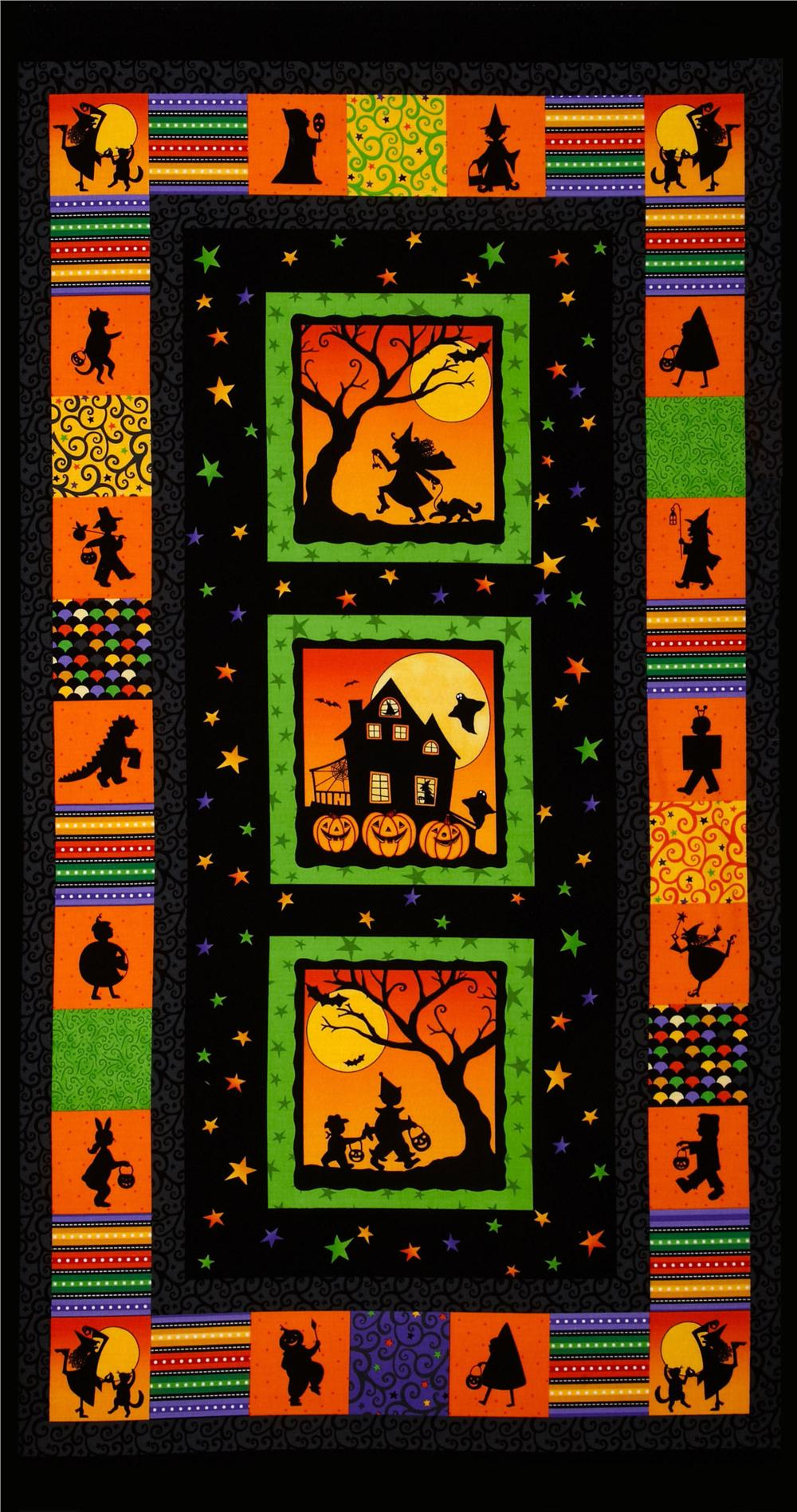 Halloween Party Trick or Treat Panel Black