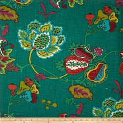 Richloom Lebeau Floral Teal Fabric