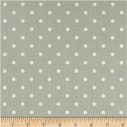 Premier Prints Mini Dot Twill Snowy Grey/White