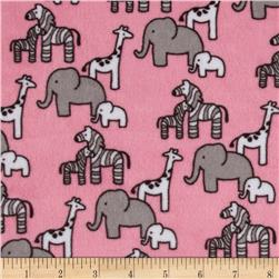 Kaufman Minky Cuddle Little Safari Paris Pink