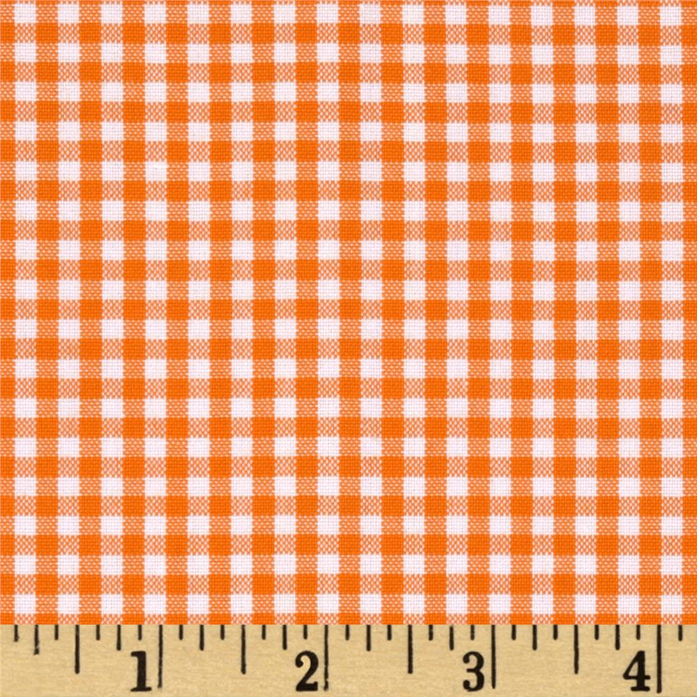 "Kaufman 1/8"" Carolina Gingham Orange"