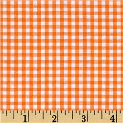 Kaufman 1/8'' Carolina Gingham Orange Fabric