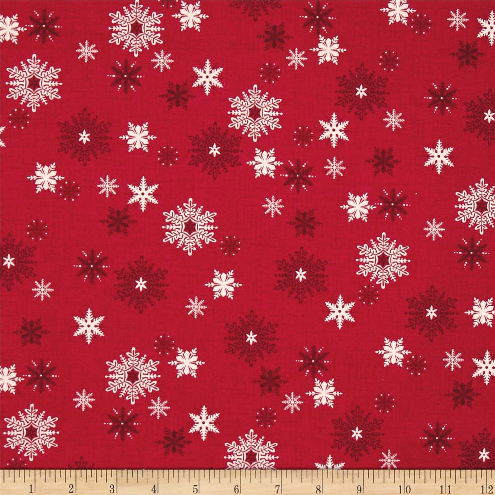 Scandi 3 Snowflakes Red