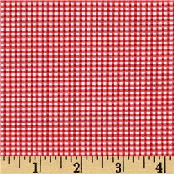 Riley Blake Lucky Star Gingham Red