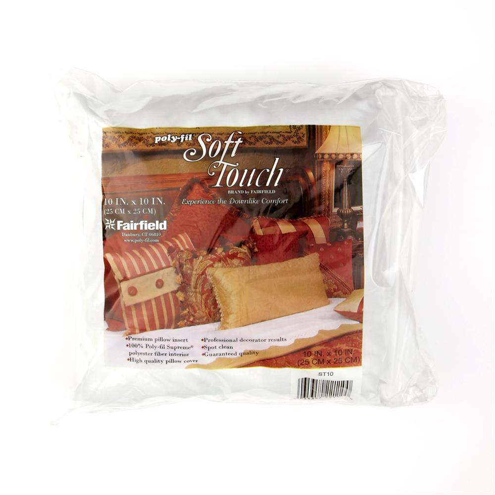 "Fairfield Soft Touch Supreme Poly-Fil Pillow 10"" Square"