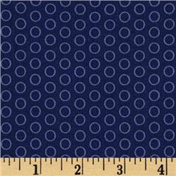 Riley Blake Circle Dot Navy