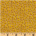 Storybook Flannel Pretty Poppies Yellow