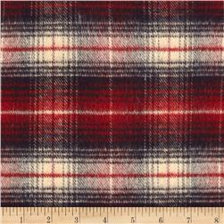 Primo Country Squire Flannel Medium Plaid Blue/Red/Cream Fabric