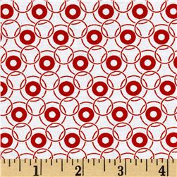 Jet Setter Geo Circles Red