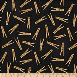 Everyday Favorites Clothespins Black