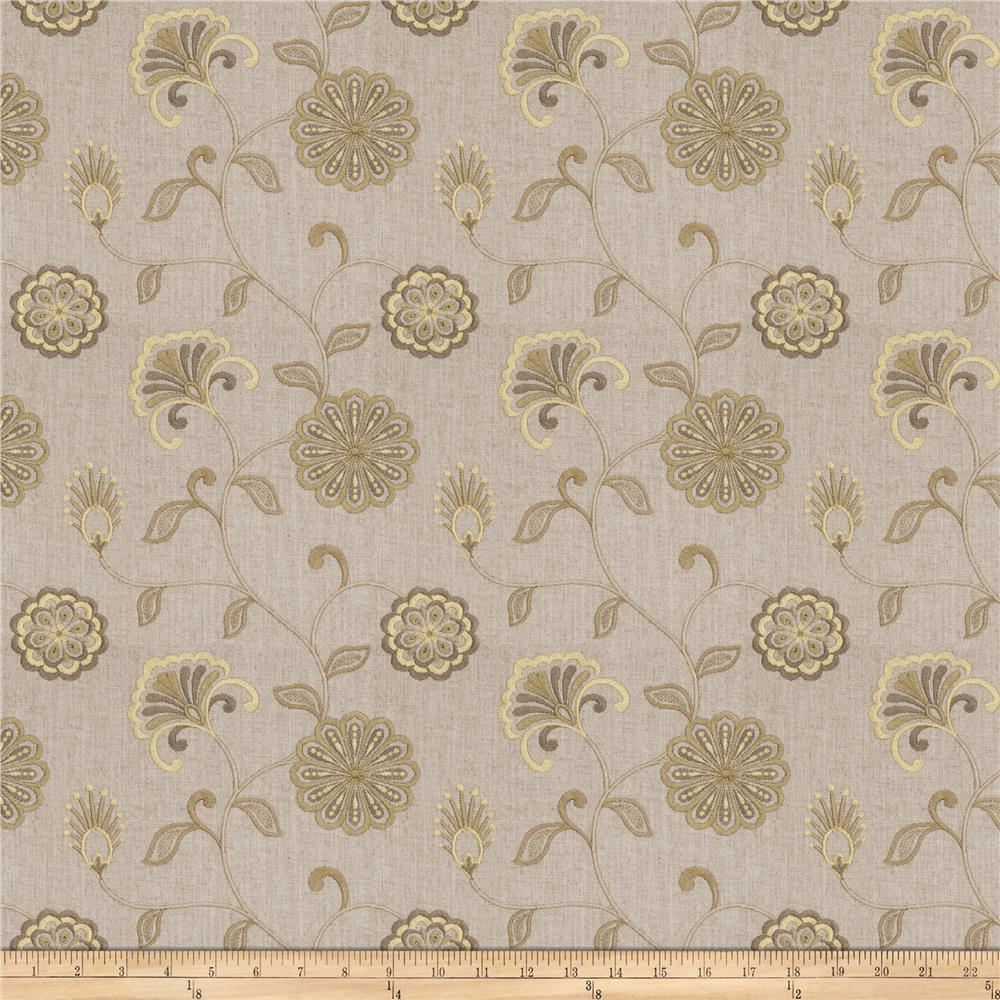Fabricut Dory Floral Embroidered Pistachio