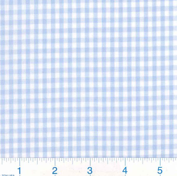 Woven 1/8 Gingham Light Blue