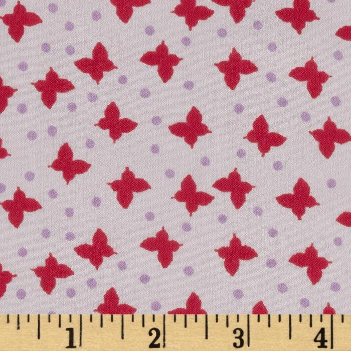 Chiffon Butterflies Pink/Red