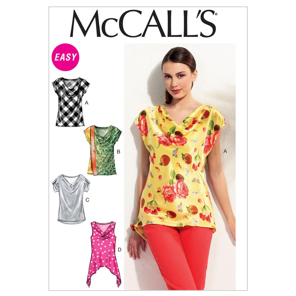 McCall's Misses' Tops Pattern M6563 Size 0Y0