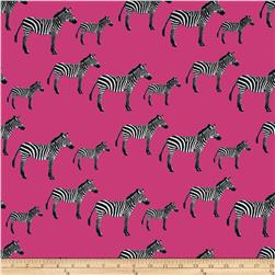 Timeless Treasures Zuzu Zebras Pink Fabric