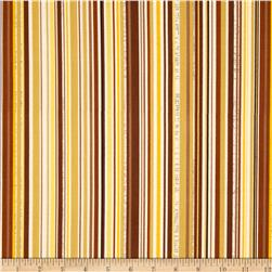Riley Blake Trail Mix Stripe Brown Fabric