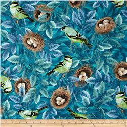 Flutter Birds & Nests Teal