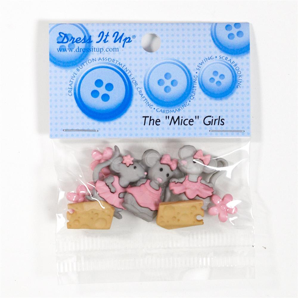 "Dress It Up Embellishment Buttons The ""Mice"" Girls"