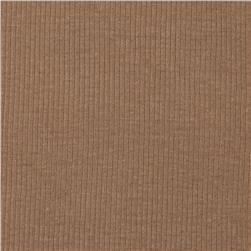 Basic Cotton Rib Knit Tan