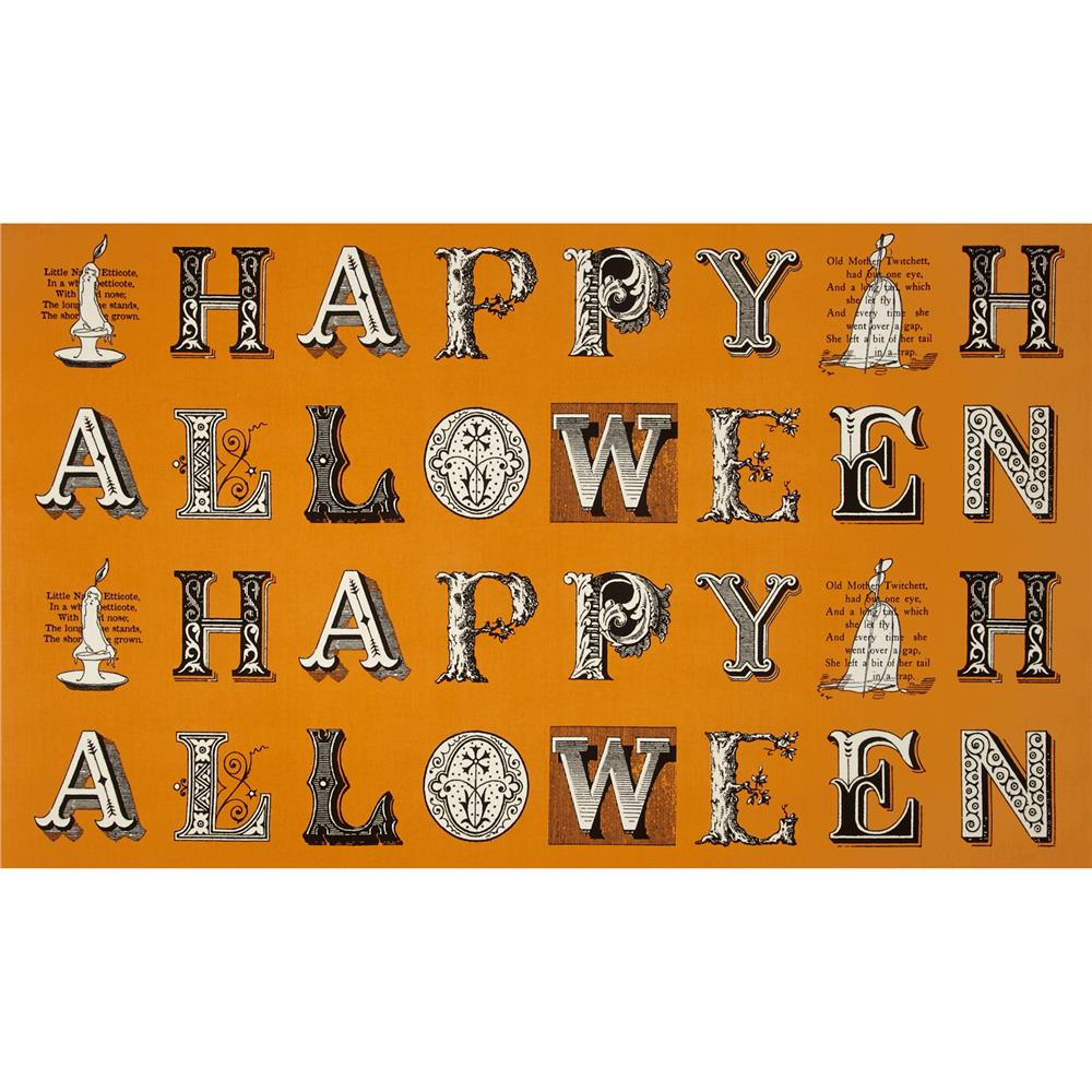 Sew Scary Greetings Patch Orange