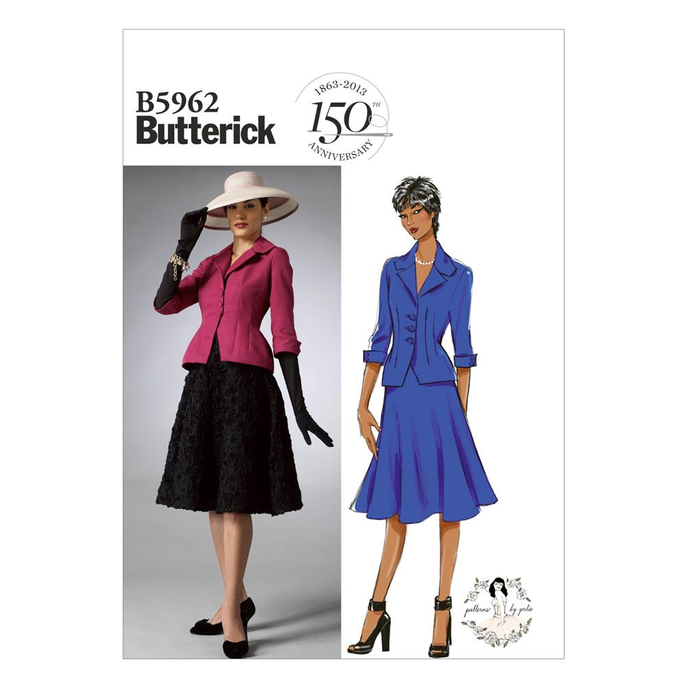 Butterick Misses'/Misses' Petite Jacket and Skirt Pattern B5962 Size B50