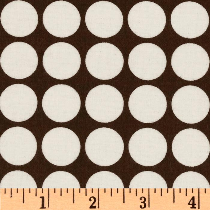 Cozy Cotton Flannel Dots Cocoa