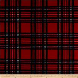 Fleece Plaid Stewart Tartan Red/Royal