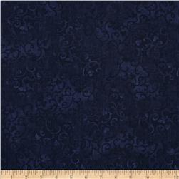 "Essentials 108"" Quilt Back Scroll True Navy"