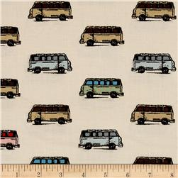 Vintage Scrapbook Mini Vans Tan