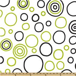 Premier Prints Bubbles Black/Chartreuse Fabric