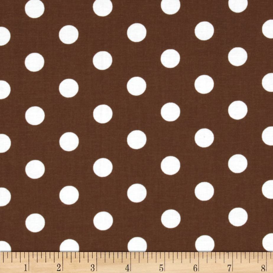 Spot On II Polka Dots Brown/White Fabric