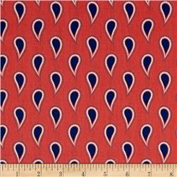 Paisley Please Solid Paisley Coral Fabric